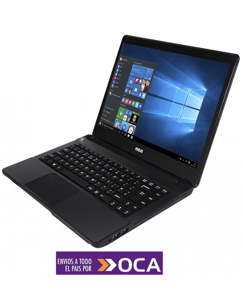 Notebook RCA Intel Core I3 - 4 GB Ram - Disco 500 GB - Color Negro